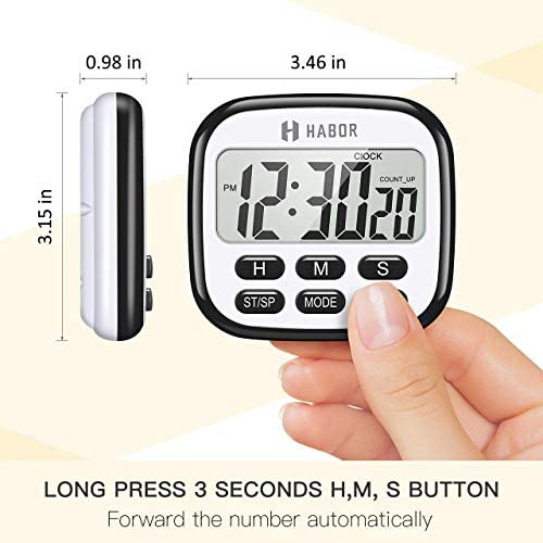 home, kitchen, kitchen, dining, kitchen utensils, gadgets, thermometers, timers,  timers 2 discount Habor Kitchen Timer, 24-Hours Digital Timer [Multifunctional in USA