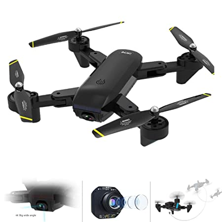 Ur HQCC Quadcopter Plegable Dron WiFi con Cámara HD 4K, Control De ...