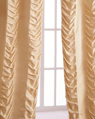 Kendall 100% Silk with puckered tonal Stripe Drape (108