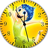 Disney Inside Out Joy Frameless Borderless Wall Clock E137 Nice For Gift or Room Wall Decor