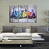 ARTLAND Modern 100% Hand Painted Framed Wall
