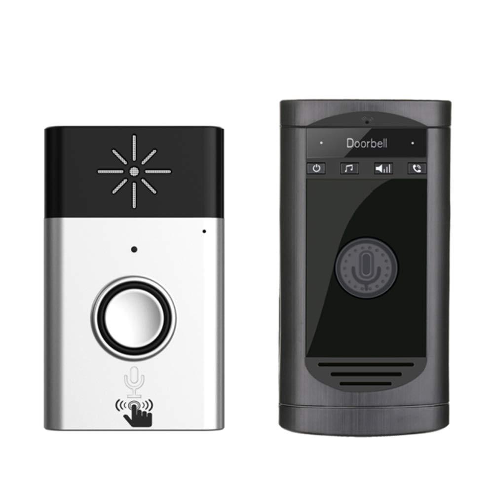 Wireless Doorbell Intercom, Two-Way Talk Outdoor Voice Doorbell Interphone Kit Operating at 600 Feet