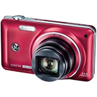 General Imaging Full-HD Digital Camera with 14.4MP, CMOS, 10X Optical Zoom, 3-Inch LCD, 28mm Wide Angle Lens, and HDMI (Red) E1410SW-CR At A Glance Review Image