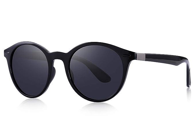 166f376eda MERRY S Men Women Classic Retro Rivet Polarized Sunglasses TR90 Legs  Lighter Design Oval Frame UV400 Protection