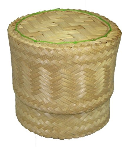 Thai Handmade Sticky Rice Serving Basket Medium Size 6.6x3.5x5