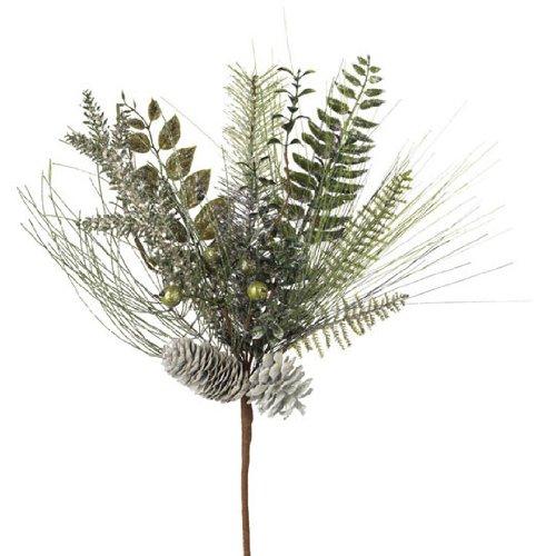 RAZ Imports - Glittered Pine with Pinecones Spray 19