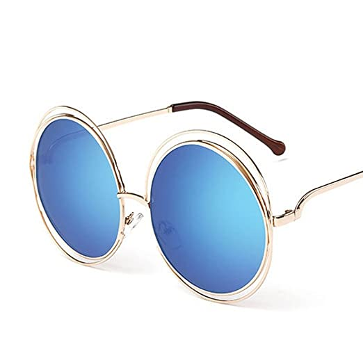 Amazon.com  Shopers Variety Women s Big Round Oversized Double Wire Rim Mirror  Sunglasses with Metal Frame Retro Vintage XXL Shades  Clothing a78e65d45c