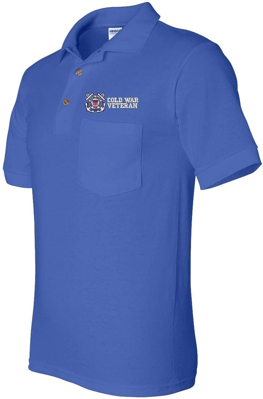 Coast Guard Cold War Veteran Pocket Polo U.S