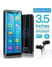 MYMAHDI MP3-Player, hochauflösender und voller Touchscreen, verlustfreier HiFi-Sound-Player mit Bluetooth 5.0, FM-Radio, Sprachaufzeichnung, unterstützt bis zu 128 GB Schwarz