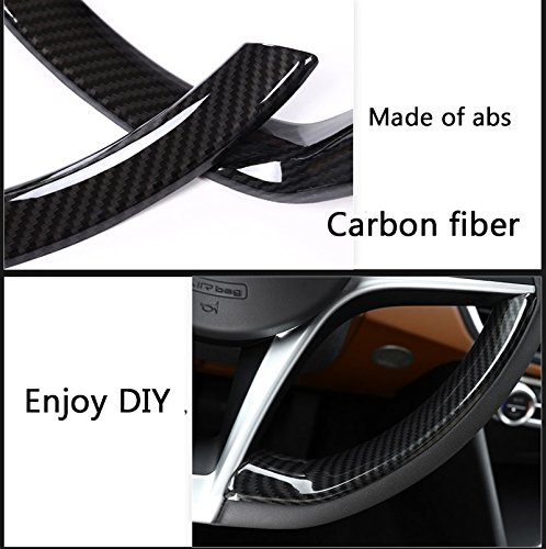 Carbon Fiber Style ABS Plastic Steering Wheel Decoration Strips Trim Car Accessories For Giulia Stelvio