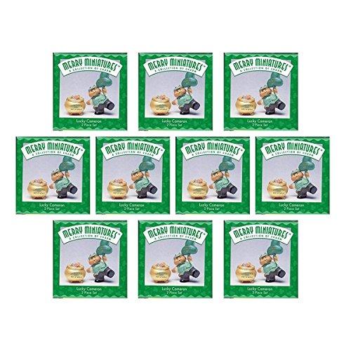 (Hallmark Merry Miniatures Lucky Cameron St Patrick's Day Figurine Set [10 Pack Bundle])