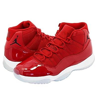amazon ナイキ air jordan 11 retro gym red white black win like