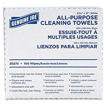 "Genuine Joe GJO20275 All-Purpose Cleaning Towel, 9.9"" Length x 5.1"" Width"