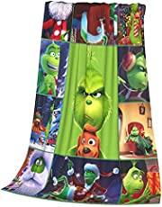The Grin.ch Christmas Blanket Super Soft Blanket Warm Blanket Suitable for Sofa Bed-Comfortable All Season Bed Blanket