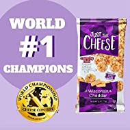 Just the Cheese Minis, Crunchy Baked Cheese, High Protein Snack, Low Carb Gluten Free With 100% Natural Cheese, Wisconsin Cheddar (16 Packs)