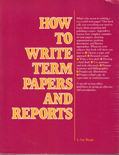 how to write term papers and reports We offer a new kind of custom term paper writing here you can choose your writer and the price communicate order details directly to your writer place a free.