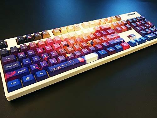SSSLG 87/104/108 Keycaps, PBT Material, OEM Height, Custom Keycap,  Decorative Mechanical Keyboard (MX Switch),87