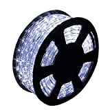 Ainfox LED Rope Light, 150Ft 1620 LEDs Indoor Outdoor Waterproof LED Strip Lights Decorative Lighting (150FT Cold White)