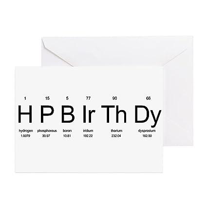 Amazon Cafepress Periodic Table Birthday Card Greeting