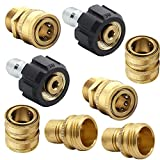 Twinkle Star Pressure Washer Adapter Set, Quick Disconnect Kit, M22 Swivel to 3/8'' Quick Connect,...