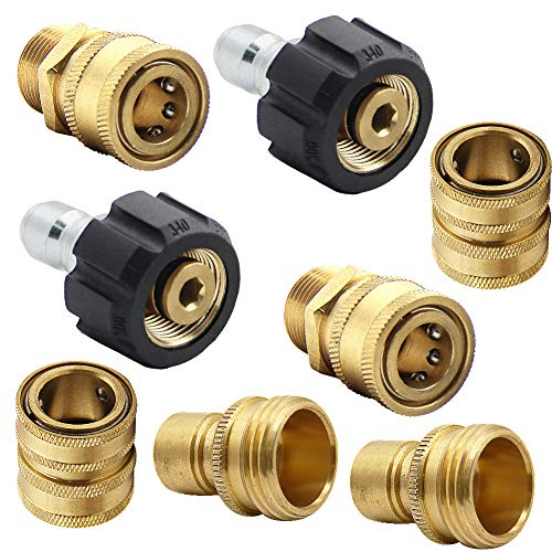 - Twinkle Star Pressure Washer Adapter Set, Quick Disconnect Kit, M22 Swivel to 3/8'' Quick Connect, 3/4