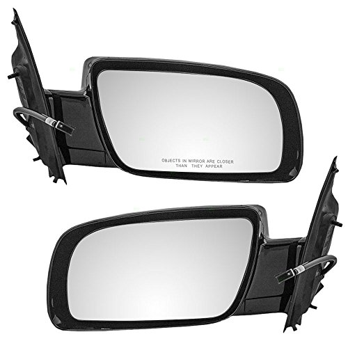 Astro Van Mirror - Driver and Passenger Power Side View Below Eyeline Mirrors Smooth Replacement for Chevrolet GMC Van 15757375 15757376