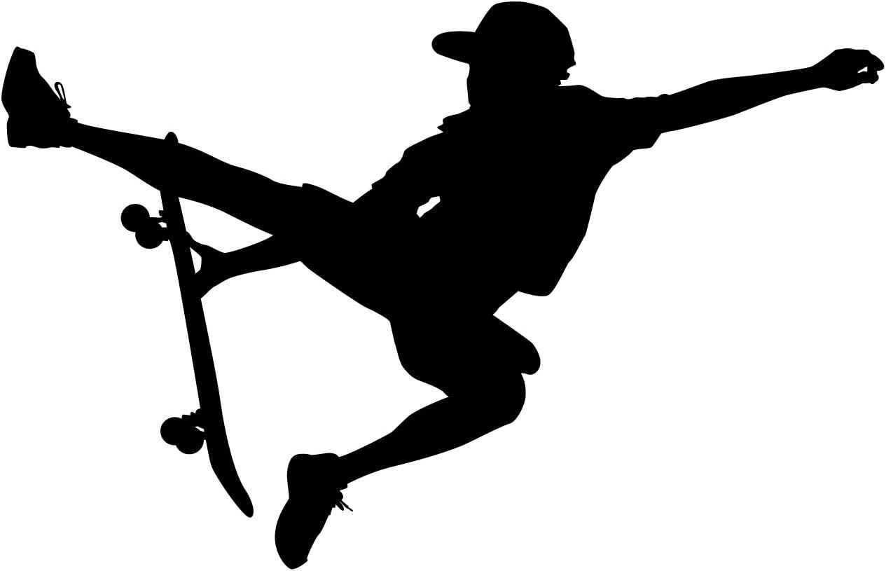 LARGE PUNK SKATEBOARD SKATE CHILDRENS BEDROOM WALL MURAL STICKER TRANSFER VINYL