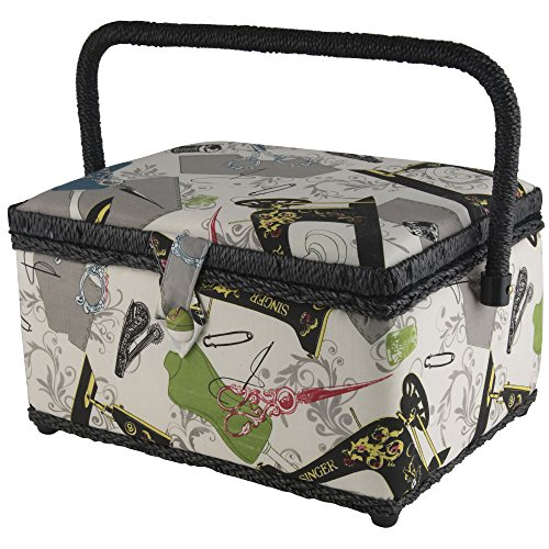 g Basket with Sewing Kit Accessories 07281 (Singer Sewing Kit Box)