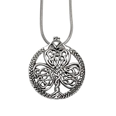 pendant product celtic necklace claddagh wave