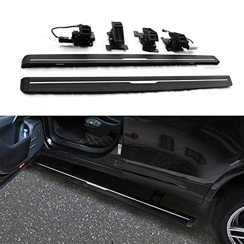 Lequer Deployable Electric Running Boards Fits for Cayenne 2018 2019 Retractable Extended Cab Nerf Bars Side Steps Side -