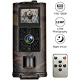 Game Trail Camera, Toguard Hunting Camera 1080P 30fps 12MP 120° Wide Angle Waterproof Wildlife Camera with Infrared Night Vision, Motion Detector, 0.5s Trigger Speed