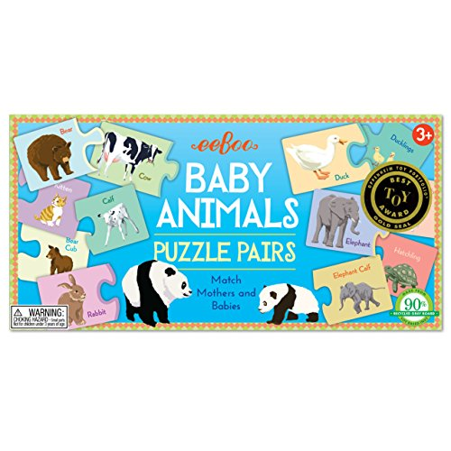 eeBoo Animals Puzzle Pairs Matching product image