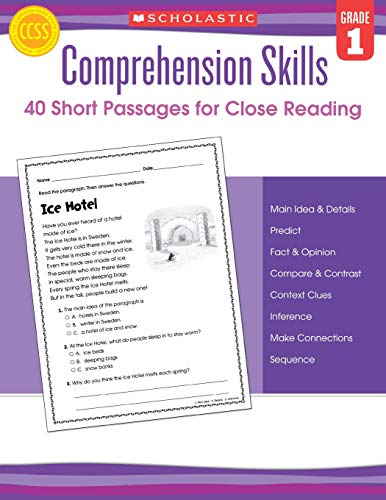 Comprehension Skills: Short Passages for Close Reading: Grade 1 ()