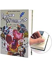 FiTT Real Paper Book Locking Booksafe with Key Lock Dictionary Secret Hidden Safe (Alice in Wonderland)