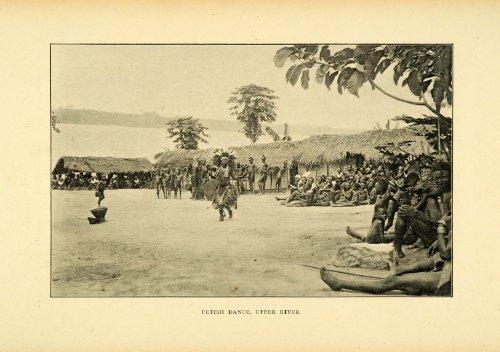 Review 1900 Print Fetish Dance Congo Africa Indigenous Tribal Headdress Costume – Original Halftone Print