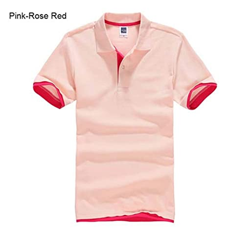 NISHISHOUZI Polo,Rosa Polo para Hombre Hombres Camiseta De Manga ...