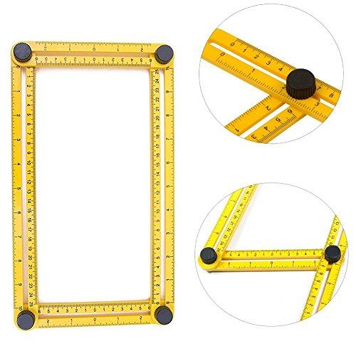 [해외]앵글 라이저 템플릿 툴 - 모든 각도 및 폼 앵글 라이저 각도 템플릿 도구를 사용하여 재 처리, 빌더, 공예가를 측정합니다./Angleizer Template Tool - Measures All Angles and F