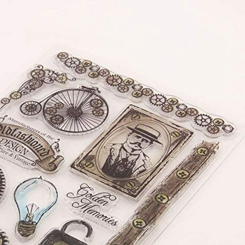 MITIN 14x18cm Mechanical Gear New Clear Stamp for Scrapbooking Album Decor DIY Card Making