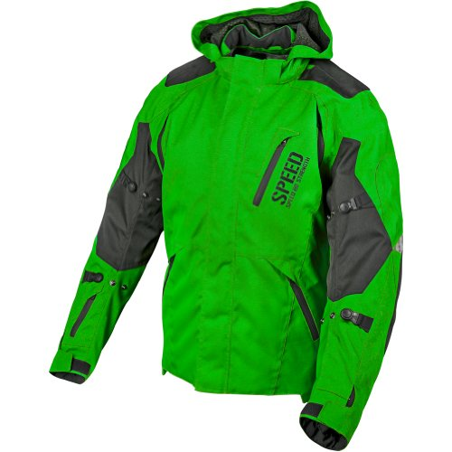 Speed and Strength Urge Overkill Men's Textile Sports Bike Motorcycle Jacket - Green/Black / X-Large
