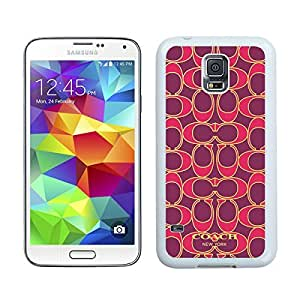Provides your phone a fashionable look with Coach 76 White Samsung Galaxy S5 I9600 G900a G900v G900p G900t G900w Case
