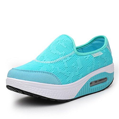 Scamosciato Blu Zeppa Nascosto Cuneo Comode Con In Comodo Da Sneaker Casual Guida Tacco Donna Pelle Piattaforma Loafers Gracosy Moda Mocassini Scarpe qY8RPP