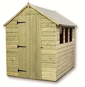 Aston 6ft X 6ft Pressure Treated Tongue & Groove Apex Shed + 3 Windows
