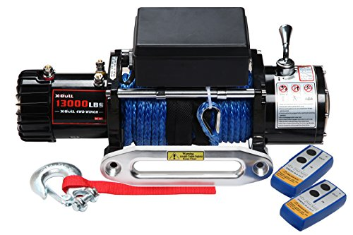 X-BULL 12V Synthetic Rope Electric Winch 13000 lb.Load ()