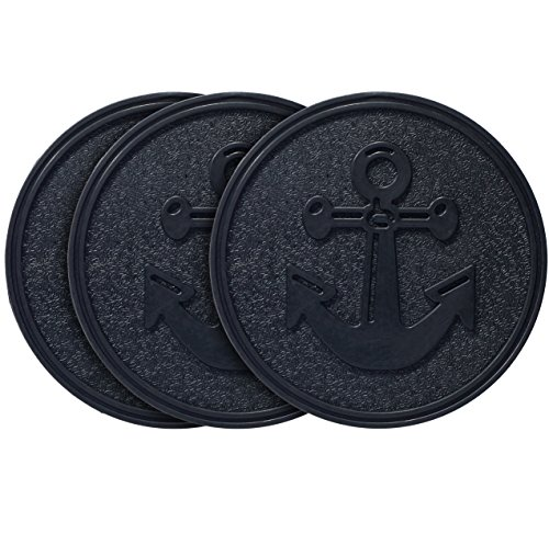 HF by LT Rubber Anchor Garden Stepping Stone, 11-3/4