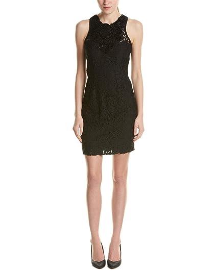22d8c08ca2a9c Elie Tahari Donna Lace Sheath Dress, Black (10) at Amazon Women's ...