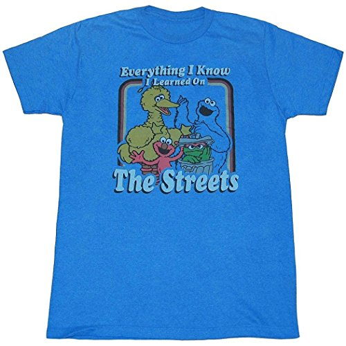 Sesame Street Everything I Know Adult - T-shirt Everything Adult