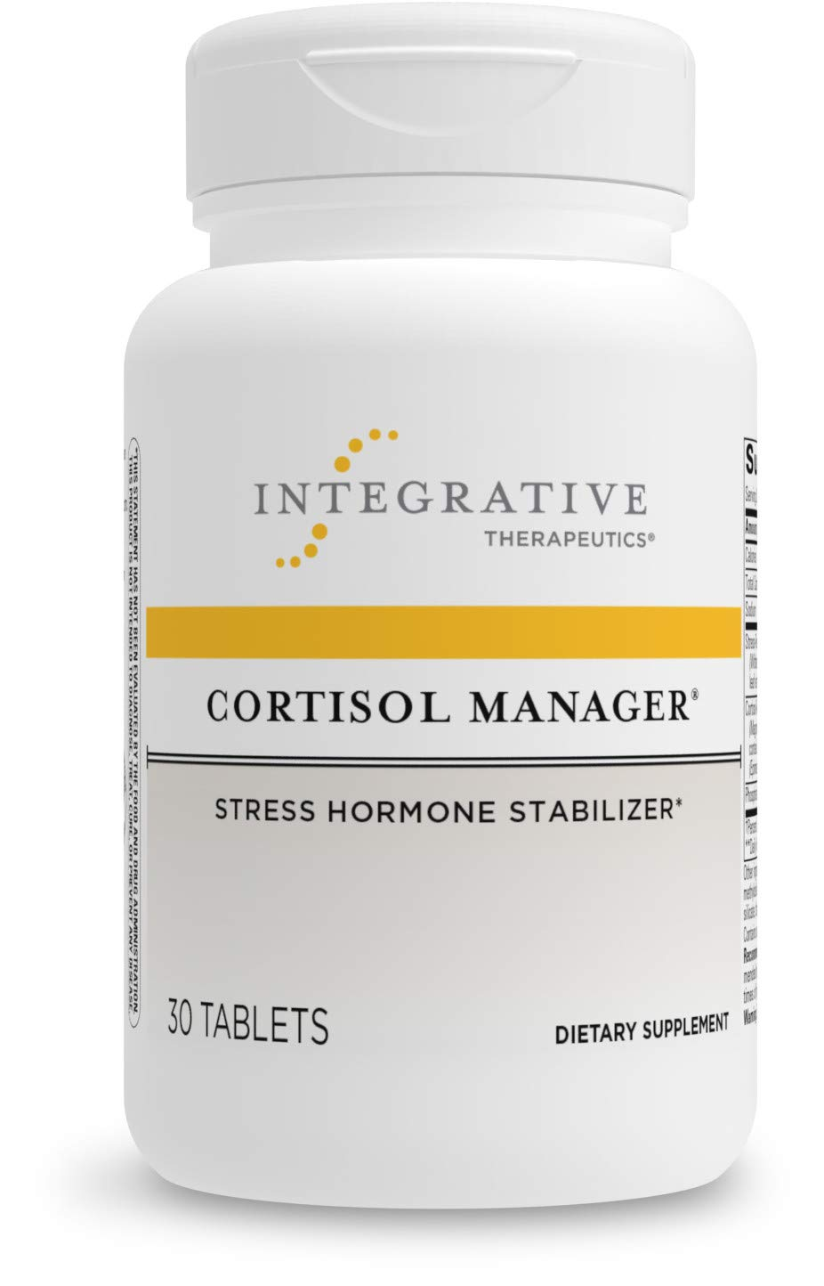 Cortisol Manager - Integrative Therapeutics - Sleep, Stress, and Cortisol Support Supplement with Ashwagandha, Magnolia, and L-Theanine - Support Adrenal Health - Vegan - 30 Tablets
