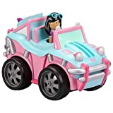 Kid Galaxy Soft Pullback Baja Buggy. Pull Back Car Wind up Toy Moving Driver, Pink, Blue