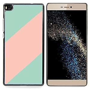 "For Huawei Ascend P8 (Not for P8 Lite) Case , Patrón trullo Línea Rosa Clean minimalista"" - Diseño Patrón Teléfono Caso Cubierta Case Bumper Duro Protección Case Cover Funda"