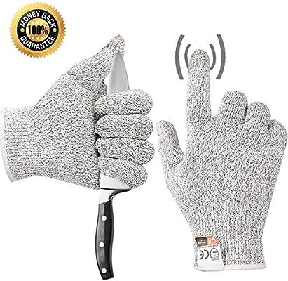 Work Cutting Gloves Cut Resistant Kitchen Safety Gloves Kevlar Gloves for Kitchen Mandala Slicer Vegetable Slice Fruit Peeling Wood Carving Garden